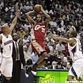 LeBron James -- 2009年季後賽 對老鷹 -- 47分、12籃板、8助攻