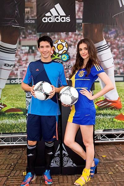 瑞莎 & 夏維耶 共同在台灣為 2012 歐洲盃正式揭開序幕