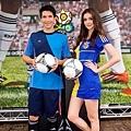 瑞莎與夏維耶共同在台灣為2012 歐洲國家盃正式揭開序幕