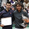 Nadal 與 Djokovic 兩大球星合影