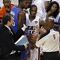 第五場比賽中  Durant 與 Chalmers 發生小衝突