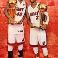 Wade 與 Haslem 聯手拿下兩座冠軍
