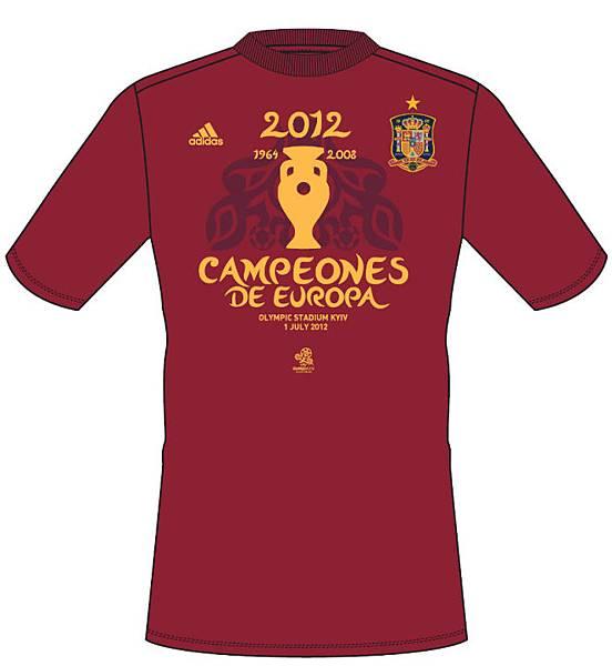 adidas慶賀西班牙國家隊衛冕歐洲冠軍 推出2012歐洲國家盃冠軍紀念T恤