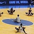 美國隊賽前練習