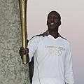 2012 倫敦奧運  中短跑好手 Michael Johnson 傳遞聖火