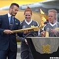 2012 倫敦奧運 地主球星 Beckham 傳遞聖火