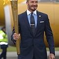 2012 倫敦奧運  Beckham 手持聖火火炬