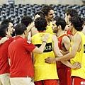 西班牙隊練習談笑風生