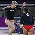 美國選手 Kerri Walsh 和 Misty May-Treanor