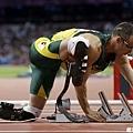 Oscar Pistorius 準備起跑
