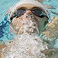Phelps的仰式稍差但仍然無礙他在混合式的優秀