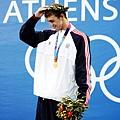 登上頒獎台,接下來幾年成了Phelps的招牌