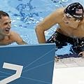 競爭結束,Phelps跟Lochte還是那個無話不談的競爭隊友