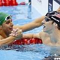 200公尺蝶式,Phelps以些微差距落敗