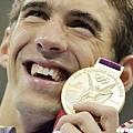 奪金成功,Phelps再度站上巔峰