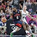 LeBron James攻守全能是美國隊王牌之一