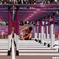 100 公尺跨欄預賽,劉翔意外摔倒