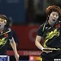 [女子桌球] 郭躍與李曉霞拿下雙打的最後一點