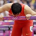劉翔因傷在預賽遭淘汰