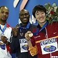 2003世界田徑錦標賽奪下銅牌