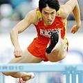劉翔在2005世界田徑錦標賽拿到銀牌