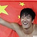 劉翔再度披著五星旗,再度把自己推向榮耀