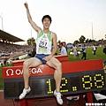 與世界紀錄合照的劉翔
