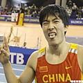 劉翔生涯首度在室內賽奪金