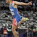 Felix Sanchez在400公尺跨欄奪下金牌