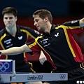 [男子桌球] 德國選手 Bastian Steger 和 Dimitrij Ovtcharov
