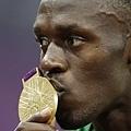 [男子田徑] Usain Bolt 親吻金牌