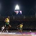 [男子田徑] 率先衝過終點的 Bolt
