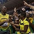[男子田徑] Usain Bolt 和觀眾互動