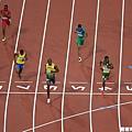 [男子田徑] Bolt 率先衝過終點