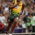 [男子田徑] 進行加速中的 Usain Bolt