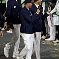 美國男籃成員開心參與開幕式