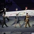 奧運會旗緩緩入場