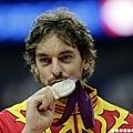Pau Gasol 和倫敦奧運銀牌