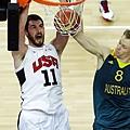 Love的進攻籃板給了美國隊很大的幫助