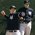 Clemens 與洋基總教練 Joe Torre