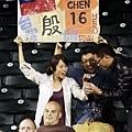 場邊加油的台灣球迷