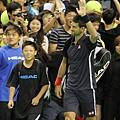 Novak Djokovic 向球迷致意