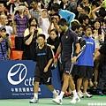 Novak Djokovic 與搭檔的小朋友