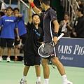 Novak Djokovic 與小朋友搭檔演出