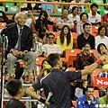 Novak Djokovic向裁判抗議