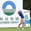 揚昇LPGA台灣錦標賽衛冕冠軍曾雅妮今日上午前往揚昇球場練球