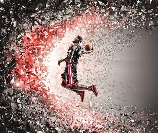 LeBron X設計靈感來自於完美鑽石的形成過程,有如LeBron James 10年職業生涯歷程,在經歷種種磨練之後,終能成為籃球場上閃耀的鑽石
