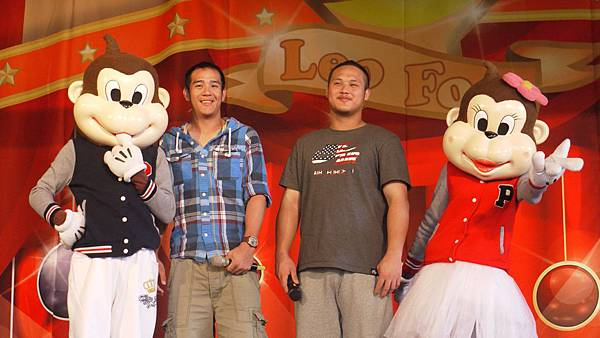旅美球星蔣智賢、陳俊秀於六福村與球迷一起為中華棒球加油