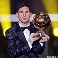 Lionel Messi 完成金球獎四連霸
