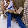 1.大學時期在吃Pizza的Barkley